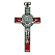 Red Enamel Confirmation Crucifix cm.8 - 3""
