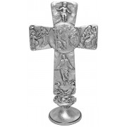Trinity Pewter Cross with Base cm.16 - 6 1/4""