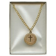Confirmation Pendent and Chain Gold Plated