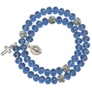 Crystal Wrap a Round Bracelet Sapphire mm.6