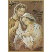 "Holy Family Plaque cm.15.5x10.5 - 6""x4"""
