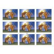 """Nativity 9 Stickers cm.12x16 - 5""""x6"""""""