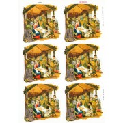 "Nativity 6 Stickers cm.12x16 - 5""x6"""