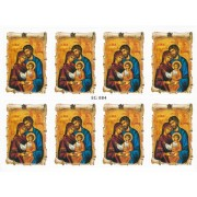 "Holy Family 8 Stickers cm.12x16 - 5""x6"""