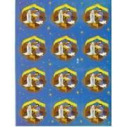 """Nativity 12 Stickers cm.12x16 - 5""""x6"""""""