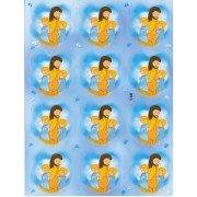 "Jesus and Children 12 Stickers cm.12x16 - 5""x6"""