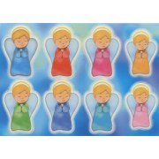 "Guardian Angel Glow in the Dark Stickers cm.6.5x10 - 2.5""x4"""