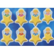 "Guardian Angel Star Glow in the Dark Stickers cm.6.5x10 - 2.5""x4"""