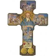 "St.Benedict Wood Cross cm.24.5 - 9 1/2"""
