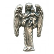 Guardian Angel Lapel Pin Pewter mm.25 - 1""