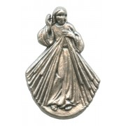Divine Mercy Lapel Pin Pewter mm.21- 3/4""