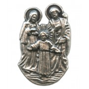Holy Family Lapel Pin Pewter mm.21- 3/4""
