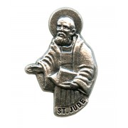 St.Jude Lapel Pin Pewter mm.21- 3/4""