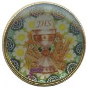 "Chalice/ Communion Dome Lapel Pin cm.2 - 3/4"""
