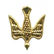 Dove Lapel Pin Gold Plated mm.20- 3/4""