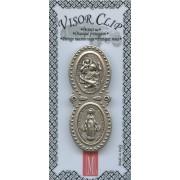"""Miraculous/ St.Christopher Visor Clip mm.55 - 2 /1/4"""""""