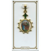"Holy Family Enamel Plaque Medal mm.25 - 1"""