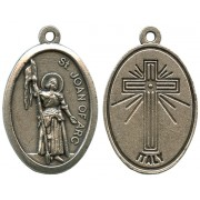 Joan of Arc Oxidized Oval Medal mm.22- 7/8""