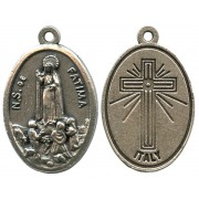Fatima Oxidized Oval Medal mm.22- 7/8""