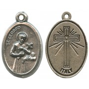St.Gerard Oxidized Oval Medal mm.22- 7/8""