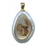 Boy Communion Imitation Mother of Pearl Pendent mm.30 - 1 1/4""