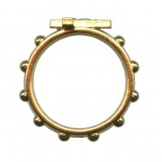 Rosary Ring Gold Plated mm.18 - 11/16""