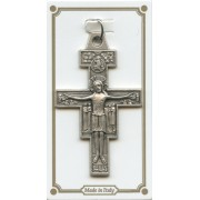 St.Damian Pocket Cross Latin Inscription mm.38 - 1 1/2""