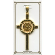 Communion Crucifix Pendent Gold Plated mm.40 - 1 1/2""