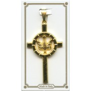 Confirmation Crucifix Pendent Gold Plated mm.40 - 1 1/2""