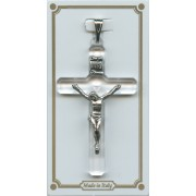 """Crystal Lucite Pocket Crucifix mm.38- 1 1/2"""""""