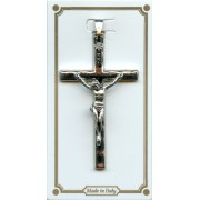 """Hammered Crucifix Nickel Plated mm.40 - 1 1/2"""""""