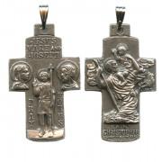 "Jesus, Mary, Joseph, St.Christopher Pocket Crucifix mm.30- 1 1/4"""