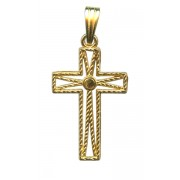 Imitation Gold Plated Filigree Cross and Enamel Centre mm.25 - 1""