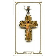 Silver Plated Cross with Jesus mm.30- 1 1/4""