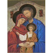 "Icon Holy Family Plaque cm.31x20.5 - 12 1/4""x 8 1/8"""