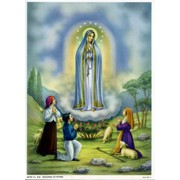 "Fatima Print cm.19x26 - 7 1/2""x 10 1/4"""