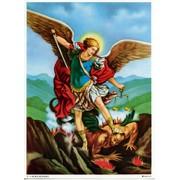 "St.Michael Print cm.19x26 - 7 1/2""x 10 1/4"""