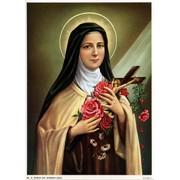 """St.Theresa Print cm.19x26 - 7 1/2""""x 10 1/4"""""""
