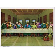 """Last Supper Print cm.19x26 - 7 1/2""""x 10 1/4"""""""
