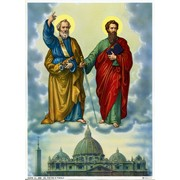 "St.Peter and St.Paul Print cm.19x26 - 7 1/2""x 10 1/4"""