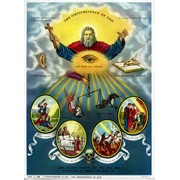 "The Omnipresence of God Print cm.19x26 - 7 1/2""x 10 1/4"""