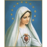 "Immaculate Heart of Mary Plaque cm.25.5x20.5 - 10""x8 1/8"""