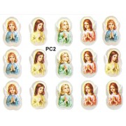 "Girl Praying 15 Stickers cm.12x16 - 5""x6"""