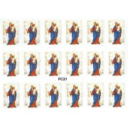 "Our Lady Helper of Christians 18 Stickers cm.12x16 - 5""x6"""