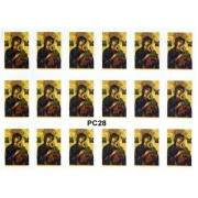 "Perpetual Help 18 Stickers cm.12x16 - 5""x6"""