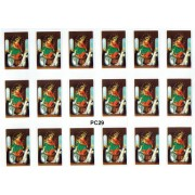 "Our Lady of the Rosary 18 Stickers cm.12x16 - 5""x6"""
