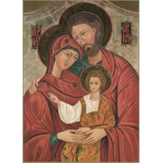 "Icon Holy Family Plaque cm.31x20.5 - 12 1/4""x8 1/8"""
