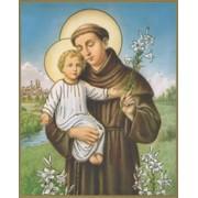 """St.Anthony Plaque cm.25.5x20.5 - 10""""x8 1/8"""""""