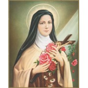 "St.Therese Plaque cm.25.5x20.5 - 10""-8 1/8"""
