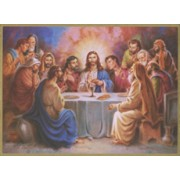 "Last Supper Plaque cm.25.5x20.5 - 10""x8 1/8"""